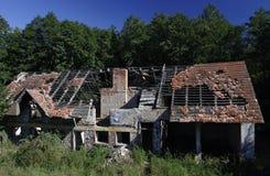 Maison dans les riuns Photo stock
