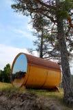 Maison de baril sur la dune Image libre de droits
