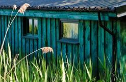 Maison de bateau Photographie stock
