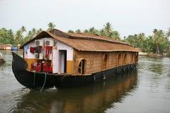 maison de bateau Kerala Photos stock