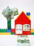 maison de billets de banque Image stock
