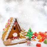 Maison de biscuit de Noël Image libre de droits