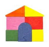 Maison de bloc en bois Image libre de droits