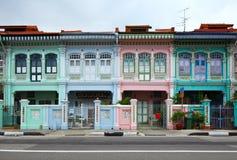 Maison de boutique à Singapour Photos stock