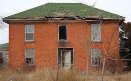 Maison de brique d'abandon Photo libre de droits