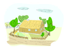 Maison de Brown. illustration stock