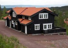Maison de campagne dans le comté de Dalécarlie, Suède Images libres de droits