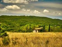 Maison de campagne de la Toscane Photo libre de droits