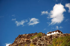Maison de campagne tibétaine Photo stock