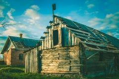 Maison de campagne Une vieille maison Chambre abandonnée Photographie stock libre de droits