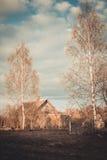 Maison de campagne Une vieille maison Chambre abandonnée Photo stock
