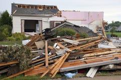 Maison de Chambre de Damge de tempête de tornade détruite par Wind Photographie stock