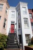 Maison de Chambre de ligne de type d'Italianate, Washington DC Etats-Unis photo libre de droits