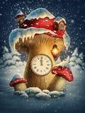 Maison de champignon d'imagination illustration stock