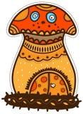 Maison de champignon de couche Image stock