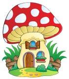 Maison de champignon de couche de dessin animé illustration libre de droits