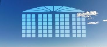 Maison de ciel bleu Photos stock