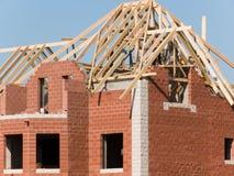 Maison de construction Images stock