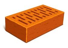 maison de construction en briques d'isolement Photographie stock libre de droits
