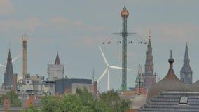 maison de Copenhague semblant la vue neuve d'horizon d'opéra banque de vidéos