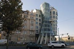 Maison de danse sur le remblai de la Vistule à Prague photo libre de droits