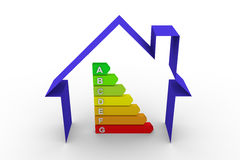 Maison de diagramme de rendement énergétique Images stock