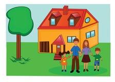 Maison de famille Illustration de Vecteur