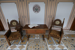 MAISON DE FAMILLE DE CEAUSESCU - MUSÉE DE PALAIS DE PRIMAVERII images stock