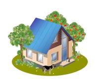 maison de famille de trois dimensions Image libre de droits
