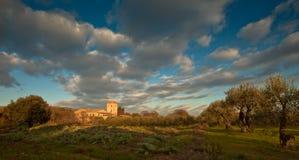 Maison de Farmer´s avec la tour Photographie stock libre de droits