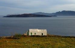 Maison de ferme dans Santorini Images libres de droits