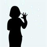 maison de fille de jour pluvieuse illustration de vecteur
