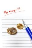 maison de finances de budget Image libre de droits