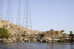 Maison de fleuve de Nil, Aswan Photo stock