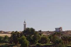 Maison de fleuve de Nil, Aswan Photos stock