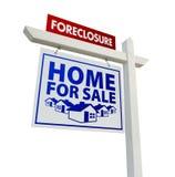 Maison de forclusion à vendre le signe d'immeubles Photo stock
