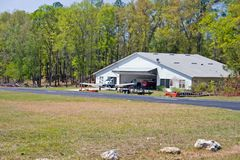 Maison de hangar d'Airpark Images libres de droits