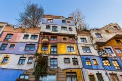 Maison de Hundertwasser à Vienne Autriche photos stock