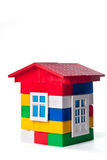 Maison de jouet d'isolement sur le blanc image stock