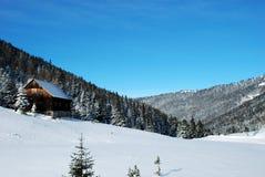 Maison de l'Autriche avec la neige 2 Photographie stock libre de droits