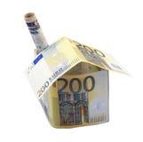 maison de l'euro 200 avec la cheminée Images libres de droits