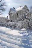 Maison de l'hiver Image libre de droits