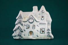Maison de l'hiver d'argile Image stock