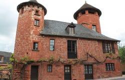 Maison de la Ramade de Friac, Collonges-la-rouge (Frankrike) Arkivbilder