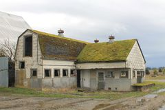 Maison de lait et grange de laiterie abandonnées Photos libres de droits