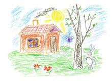 Maison de lapin Image stock