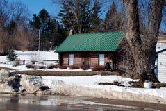 Maison de logarithme naturel en Iowa Photo libre de droits