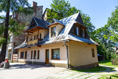 Maison de logement, à la rue de Witkiewicza, Zakopane Images libres de droits