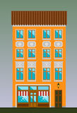 Maison de logement dans le style de classicisme Ville classique Images stock
