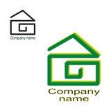 Maison de logo, construction, vraie agence immobilière Calibre, vecteur illustration de vecteur